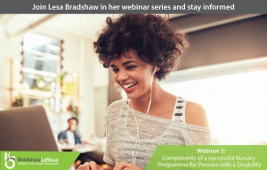 Webinar 2: Components of a successful Bursary Programme for Persons with a Disability